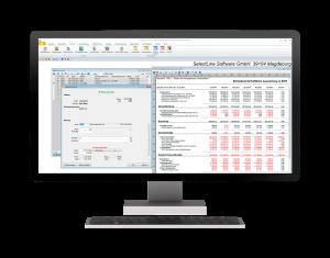 Menüaufbau im SelectLine Rechnungswesen